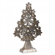 Silver Stars & Snowflakes Christmas Tree Ornament