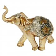 Large Golden Glitter Elephant Ornament