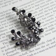Rosie Fox Jet Black Berry Brooch Hair Accessory