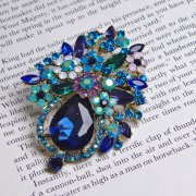 Rosie Fox Blue Flower Bouquet Brooch Pendant Hair Accessory