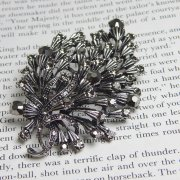 Rosie Fox Pewter Bouquet Brooch Hair Accessory