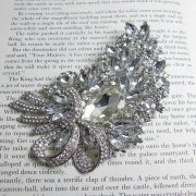 Rosie Fox Crystal Dazzle Showstopper Brooch Pendant
