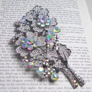 Swarovski Crystal Large Show Stopper Vintage Flower Brooch