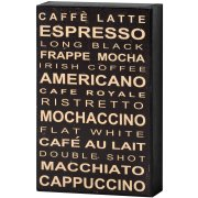 Cool Cafe Style Black & White Coffee Shelf Wall Plaque