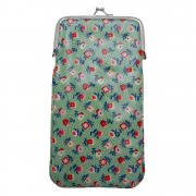 Gisela Graham Green Ditsy Floral Print Oilcloth Glasses Case