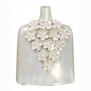 Oyster Pearlescent 3D Flowers Bud Vase