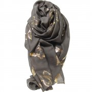 Rosie Fox Mink Gold Butterfly Large Wrap Scarf