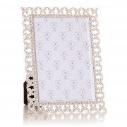 "Silver Coloured with Diamante Butterflies Border 7""x 5"" Photo Frame"