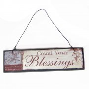 Heaven Sends Count Your Blessings Small Hanging Sign