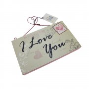 Heaven Sends I Love You Hanging Postcard Plaque