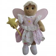 Powell Craft 40cm Blonde Fairy Rag Doll with a Wand