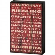 Cool Cafe Style Red & White Wine Shelf Wall Plaque