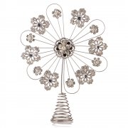 Dreamy Winter Wishes Fligiree Metal & Pearl Wonder Snowflake Christmas Tree Topper