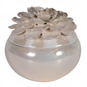 Pearl Petals Flower Lidded Bowl Trinket Box