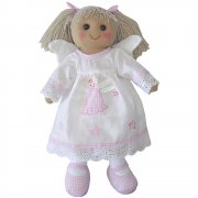 Powell Craft 40cm Angel Rag Doll with Blonde Hair