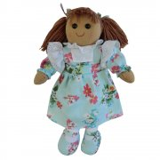 Powell Craft 40cm Rag Doll with a Blue Floral Dress
