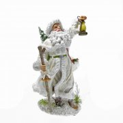 White Father Christmas Carrying A Lantern Ornament