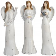 Set of 3 Shabby Chic Christmas Angel Figurines
