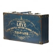 Heaven Sends Vintage Style Do What You Love Wooden Storage Suitcase Box