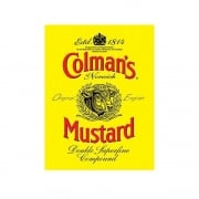Colman's Mustard Est 1814 Label Vintage Style Metal Wall Sign