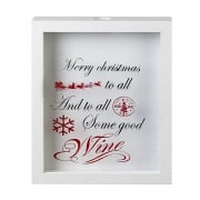 Heaven Sends White Framed Christmas Wine Cork Holder