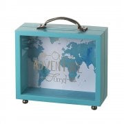 Our Adventure Fund Wooden & Perspex Money Box