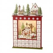 Heaven Sends Wooden LED Christmas Scene Christmas Advent Calendar