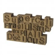 SUPERCALIFRAGILISTICEXPIALIDOCIOUS Freestanding Wooden Block Sign
