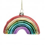 Gisela Graham Glass Rainbow Christmas Tree Decoration