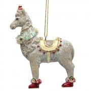 Gisela Graham Llama Christmas Tree Decoration