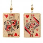 Gisela Graham King and Queen of Hearts Playing Card Wooden Christmas Tree Decoration