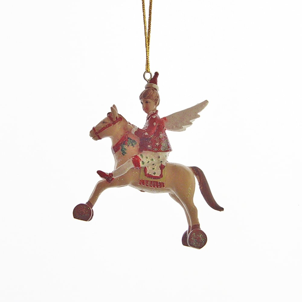 Gisela Graham Rocking Horse Hanging Nursery or Christmas Tree Decoration