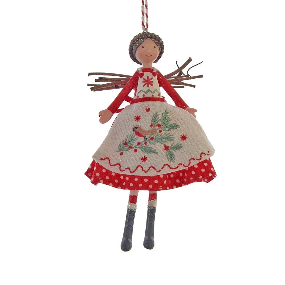 Gisela Graham Nordic Fairy Christmas Tree Decoration