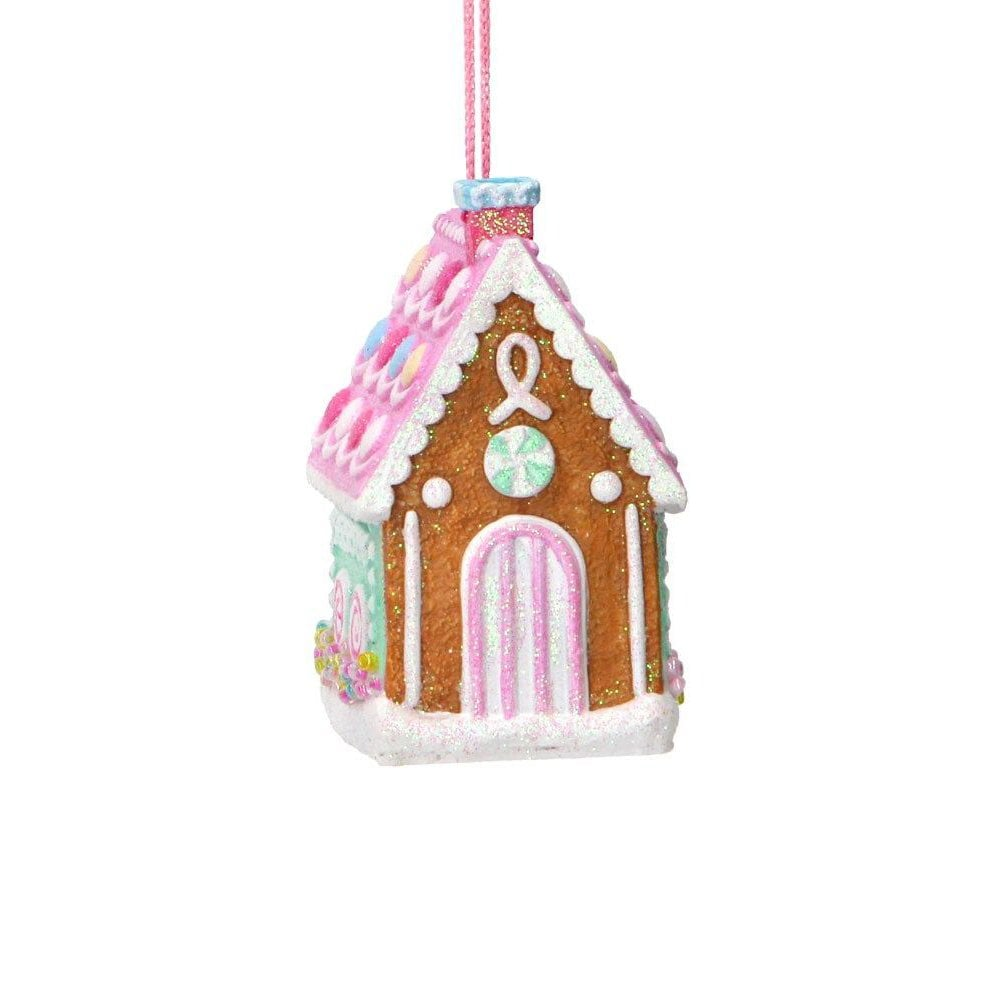 Gisela Graham Pastel Gingerbread House (Tall) Christmas ...